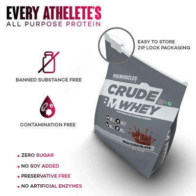 Big Muscles Crude Whey 1kg – Supplement superstore India, Meerut, UP