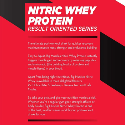 Big Muscles Nitric Whey 4.4lbs Rich Chocolate